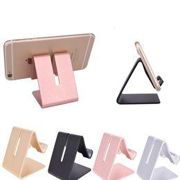 2019 suporte de telefone de alumínio Universal Aluminium Metal Mobile Phone Tablet Holder Desk Stand para iPhone 7 Plus Samsung s8 plus ZTE Max XL com pacote de varejo OTH766 suporte de telefone de alumínio barato