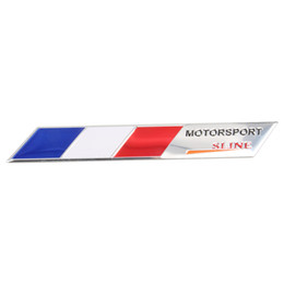 Wholesale Italy Car - Aluminum Germany Italy France Flag Car sticker motorsport Sline Emblem Badge Sticker Car Styling For Jeep Bmw Fiat VW Ford Audi
