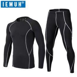 Wholesale Thermo Underwear Set - IEMUH Brand Men Winter Sport Thermal Underwear Quick Dry Elastic Compression Warm Long Johns Ski Fitness Thermo Underwear Set