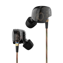 Wholesale Copper Headphones - Kz ATE Copper Driver Ear Hook Hifi in Ear Earphone Sport Headphones for Running with Foam Eartips with Microphone