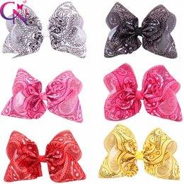 Wholesale Alligator Clips For Babies - 8 Inch Jumbo Baby hair Bows Purple Knotted Centre Hair Clip With Alligator Clip For Girl