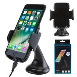 2018 Cargador inalámbrico de montaje en el coche de pie Qi Vehículo Wireless Charging Dock para Samsung Galaxy S6 S7 edge note5 con paquete al por menor desde fabricantes