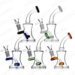 verschiedene typen rauchen pfeifen Rabatt 6,8 Zoll Glas Bongs Ölplattformen Mit Freien Glasschalen 14mm Weibliche Berauschende Becher Tupfen Rigs Wasserpfeifen