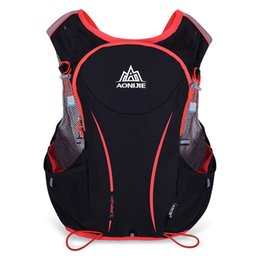 Zaini idratanti per l'esecuzione online-AONIJIE Uomo Donna 5L Outdoor Running Backpack Hydration Vest Pack Ciclismo Tracolla Sports Trail Racing Marathon Hiking