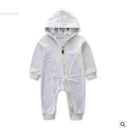 Baby Onesies unisex Ragazzi Ragazze Pagliaccetti Tuta Autunno Inverno  Manica lunga con cappuccio Pagliaccetto Tuta Abiti da neonato Abbigliamento  neonato ... 9c04726fb931