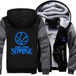 a68a5d9e5075f US Size Doctor Strange Hoodie 2018 Men Winter Jacket Thicken Fleece Zipper  Sweatshirt Cashmere Hoodie Super Warm USA EU Size Plus Size