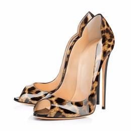 Леопардовые свадебные каблуки онлайн-2017 Новый Бренд Sexy Leopard Постепенное Женщин Насосы Острым Носом Тонкие Высокие Каблуки Новая Мода Роскошные Женская Обувь Свадебные Туфли