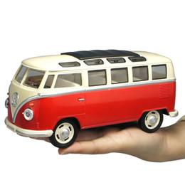 1: 24 VW T1 автобус классический Ван автомобиль сплава модель отступить звук свет коллекция игрушка от Поставщики модели vw