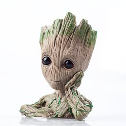 Wholesale galaxy costume - Guardians of The Galaxy II Groot Model Toy Pen Container Vest CUTE Film Star Cartoon Hero Models Articals Craft Figurine Toys For Kids