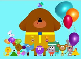 7x5FT Hey Duggee Balloons Sfondo personalizzato per studio fotografico Sfondo vinile 220cm x 150cm cheap balloon photo background da sfondo palloncino foto fornitori
