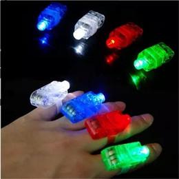 lumières d'enfants à piles Promotion LED Finger Light Batterie Opéré Lumières 4 Couleurs Drôle Intéressant Jour Kid Jouets D'anniversaire Présente Lampes 0 2ms ii