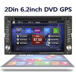 6.2 pulgadas incorporada en la unidad principal de navegación GPS para automóvil Unidad 2DIN doble en el tablero Estéreo del automóvil Reproductor de DVD y DVD Reproductor de CD con radio Bluetooth iPod unidad desde fabricantes