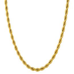 2019 жемчужное ожерелье 24 K желтое золото заполненные хип-хоп веревка Ожерелье для мужчин тяжелые очаровательные изысканные ювелирные изделия длинные / колье 4/6 мм Оптовая кубинская цепь Бесплатная доставка дешево жемчужное ожерелье