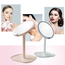 Wholesale Magnifying Lighted Makeup Mirror - 7X 30PCs Magnifying Makeup Rechargeable Motion Sensor LED Light Mirror USB 360 Rotation Vanity Mirror Infrared Induction