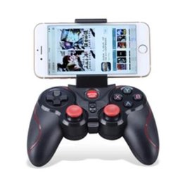 Wholesale ipad ios controller - DHL 20pcs S5 Bluetooth Wireless Game Controller Gamepad Joystick for IOS iPhone iPad Android Smart Phone Smart TV VR Box E-JYP