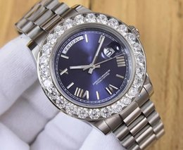 Wholesale Diamond Factory Supplier Watch - Factory Supplier 3 Color 41MM President Day-Date 18038 Diamond Bezel Watch Steel Mens Casual Watch Automatic Mechanical Men's Wristwatches