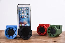 Teléfonos móviles de sonido mágico online-Sonido de inducción de resonancia creativo león sentido mutuo inalámbrico inteligente soporte de teléfono móvil pequeño altavoz subwoofer