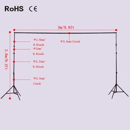 Wholesale photo backdrop kit - Photo Video Studio Adjustable 2.8m*3m 9.2ft*9.8ft Aluminum Background Backdrop Support Stand Kit