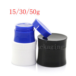 Wholesale Blue Cosmetic Glass Jars Wholesale - 15g 30g 50 Empty Cosmetics Skin Care Cream Container ,Plastic Bottles , White Black Blue Cream Tin ,Unique Jar Can 40pc LOT