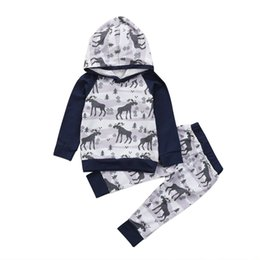 6f308770521ba Kids Tops Hoodie Top Pant Leggings 2pcs Cute Animals Kids Baby Clothes Set  Warm Outfits Deer Baby Boys Girls Christmas Clothes