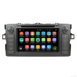 Wholesale Double Din Android Dvd Player - 2 Din 2G RAM Android 7.1 Car DVD Radio For Toyota Auris 2014 Hatchback Double Din GPS Receiver SWC OBD DVR BT WIFI 4G Quad Core Touch Screen