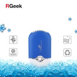 Wholesale mini portable eyelash - Mini Pocket USB Fan Air Conditioning Fan Rechargeable Portable USB Gadget for Eyelash Extension