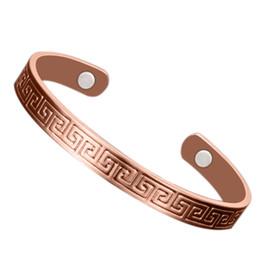Canada Bracelet en cuivre thérapie de guérison magnétique soulagement de la douleur bracelet cadeau d'arthrite manchette cheap pain bracelets Offre