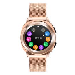 Reloj mp3 bluetooth resistente al agua online-Reloj inteligente con ritmo cardíaco, resistente al agua IP68, deportes Smartwatch Pace Lite Bluetooth 4.0 MP3, pulsera de acero inoxidable, moda de acero inoxidable