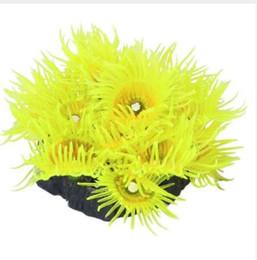pesce giallo del serbatoio Sconti Decorazione per acquario di pesci artificiali corallo - giallo