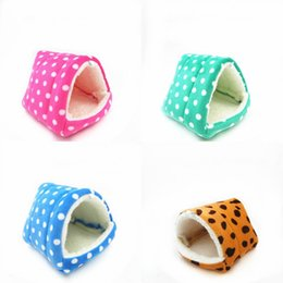 Wholesale small housed - Hamster Cage House Soft Cotton Hedgehog Squirrel Nest Small Animal Bed Pet Supplies Multi Color 14kk4 C R