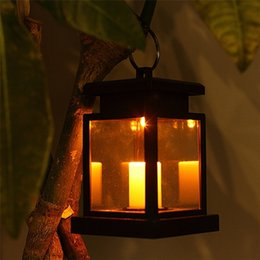 2019 lanternas velas ao ar livre YWXLight Solar Powered LED Lanterna Ao Ar Livre Lanterna Pendurar Lâmpada Ao Ar Livre Casa Jardim Quintal Decoração Gramado Decoração Luz lanternas velas ao ar livre barato