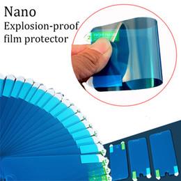 casaco de filme Desconto 5h nano anti-explosão temperado macio tpu + nano revestimento de alta claro filme protetor flexível à prova de explosão membrame para iphone x samsung