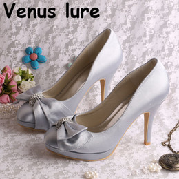 8e0522daa59 Wholesale and Retail Platform Bridal Shoes High Heeled Silver Emily Bridal  Dropshipping Store