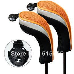 Wholesale Hybrid Club Head Covers - Golf Accessories Andux 2pcs Set Golf Headcover Hybrid Club Head Covers With Interchangeable No. Tag MT hy07