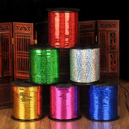 diy accessories supplies Australia - NEW 250Yard Laser Balloons Ribbons for Party Decoration Birthday Wedding Decoration DIY Accessories 220m
