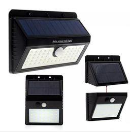2019 instalacion de lampara Luces solares LED súper brillantes Lámparas solares para exteriores con sensor de movimiento solar 20 28led 30 55 led con tres modos separables para instalar instalacion de lampara baratos
