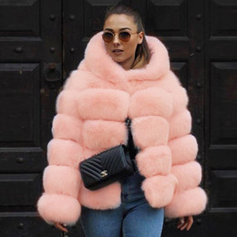 2020 колготки женские UPPIN Faux Fur Coat Jacket with Hood 2018 Women Pink Plus Size Fashion Winter  Fur Jackets Womens Tops Girls New Hooded Coats скидка колготки женские
