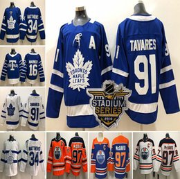2018-19 Toronto Maple Leafs  91 John Tavares  34 Auston Matthews 16  Mitchell Marner 97 Connor McDavid Mens Women Kids Hockey Jerseys S-3XL 46d9fe9c0