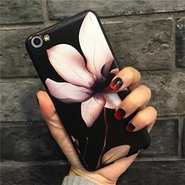 Vintage rose telefon online-YunRT Luxus Vintage Rose Blume Magnolia Silikonhülle für iPhone 7 6 s Fall weiche Silikon-Telefon-Kasten-rückseitige Abdeckung für iPhone 7 6 6s plus coqu