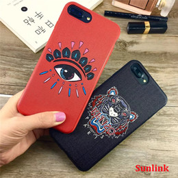 Wholesale 3d rubber phone cases - 3d phone case cover gadget gift embossment for iPhone X 8 8P 7 7P 6 6P tpu rubber case relief art style fashionable