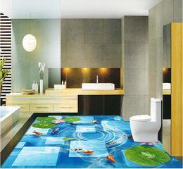 Wholesale Figure Wallpaper - Lotus nine-figure three-dimensional floor three-dimensional wall waterproof pvc wallpaper