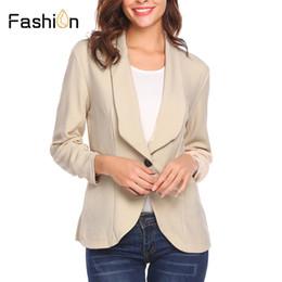 Mode Jacke Blazer Frauen Anzug Faltbare Langen Ärmeln Revers Mantel Gefüttert Mit Gestreiftem Single Button Vogue Blazer Jacken Xs-xlza Blazer