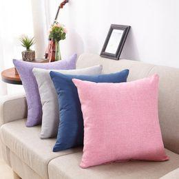 45 * 45 cm Cubierta Soild Moda Throw Pillow Casos Cafe Super Soft Home Funda de Almohada Para Silla de Cama june6 desde fabricantes