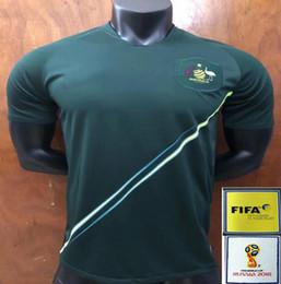 Wholesale Football Shirt Printing - new football Shirt 2018 World Cup main away Australia jersey kit soccer Training suit printed patch Mathew Leckie Free shipping virgil messi