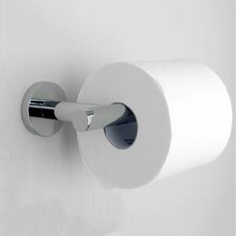 Латунные подставки онлайн-Бумажные держатели твердой латуни хром туалетной бумаги держатель рулона Tisses стоять без крышки аксессуары для ванной комнаты настенный шкаф FM-1286W