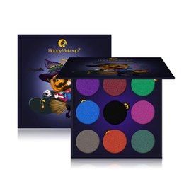 2019 зеркальный хэллоуин EyeShadow Set 9 Colors Eye  Matte Glitter Eye Shadow Palette Masquerade Halloween  Cosmetic Nude Shadow With Mirror скидка зеркальный хэллоуин