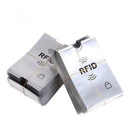 Anti Rfid Bloqueio Leitor de Bloqueio de Metal Titular do Cartão de Alumínio Rfid Capas de Proteção para Cartões de Crédito Caso Titular do cartão de