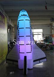 7m LED Işık Şişme Uzay Aracı, Inflatalbe Uzay Mekiği, Şişme Uzay Araçları ile 3m Yüksek Yeni Reklam nereden cadılar bayramı için korkunç palyaçolar tedarikçiler