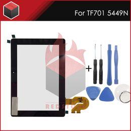 tela de toque do transformador asus Desconto 10.1 polegada L Painel de toque Para ASUS Transformer Pad K00C TF701T TF701 5449N Tablet PC Digitador Da Tela de Toque Parte com ferramentas