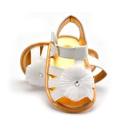 Wholesale Crazy Flowers - Crazy cat fashion new baby artificial leather toddler shoes baby breathable princess flowers soft bottom toddler sandals